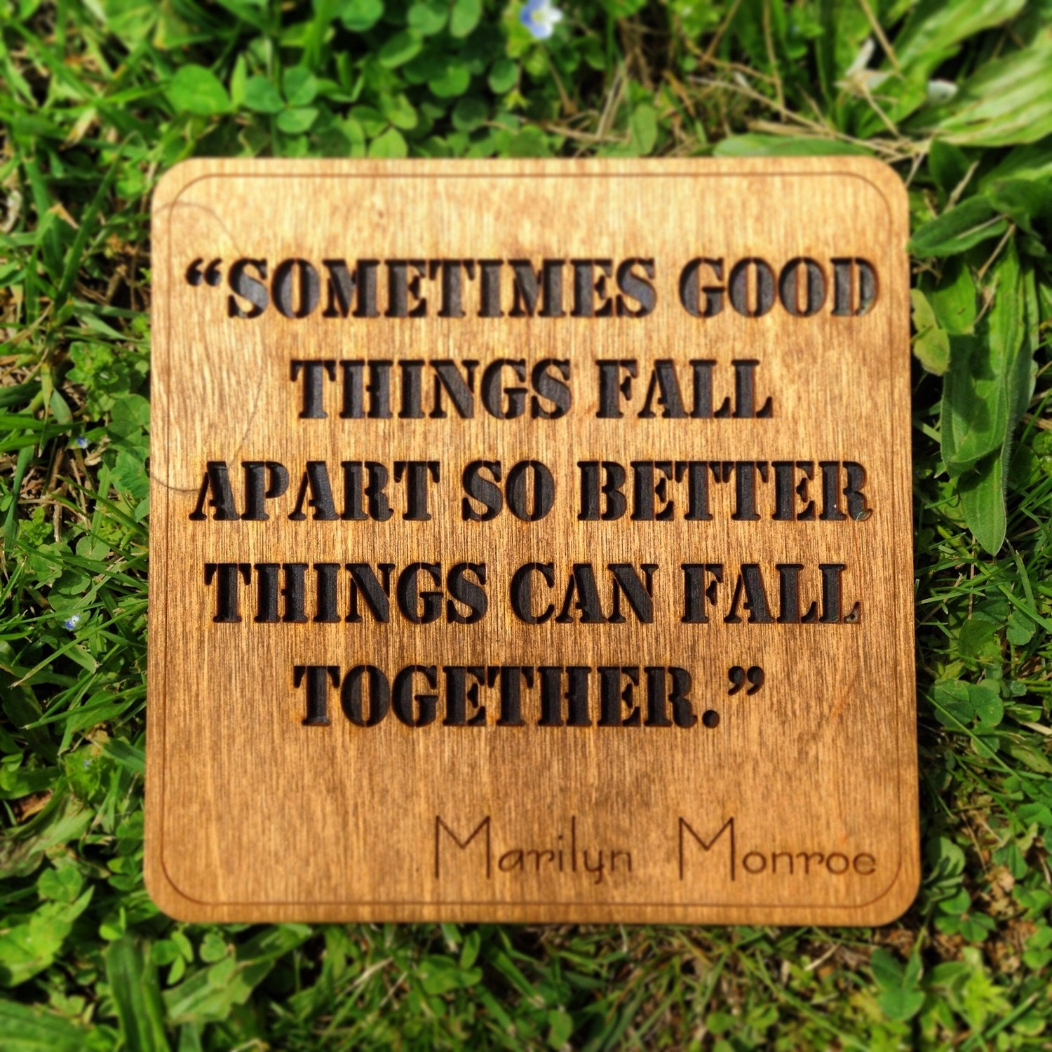 Marilyn Monroe Quotes Better Things Can Fall Together: Marilyn Monroe Quote Wall Art