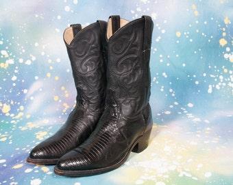 DAN POST Lizard Skin COWBOY Boots Women Size 7 M