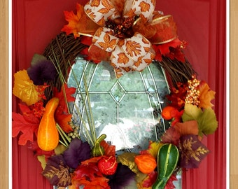 Pumpkin Gord Autumn Wreath