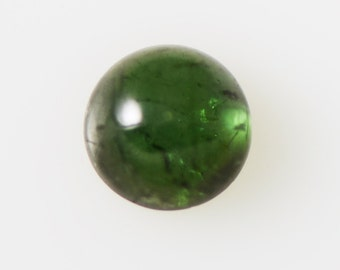 Green Tourmaline High Dome 8mm Round Cabochon