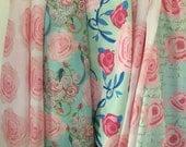 Watercolor Shabby Chic fabric designs