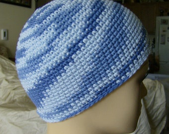 Chemo Hat Chemo Cap 100% Cotton - Shades of Blue