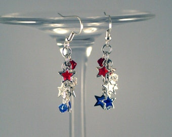 Patriotic Star Cluster Earrings!