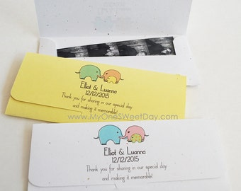 Photobooth Photo-Strip Envelopes Baby shower photo booth party favors