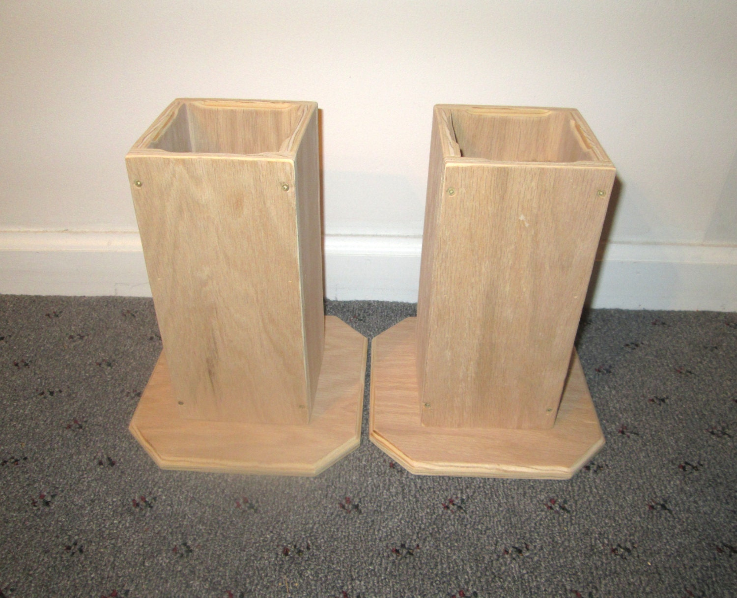 Furniture risers 8 inch all wood construction unfinished for Furniture risers