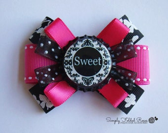 Sweet loopy hair bow - 3""