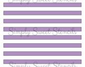 Small Stripes Stencil