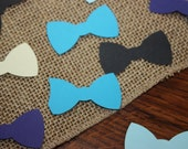 50 Bow Tie Confetti-Birthday-Baby Shower-Bachelor Party-Littleman- CHOOSE COLORS