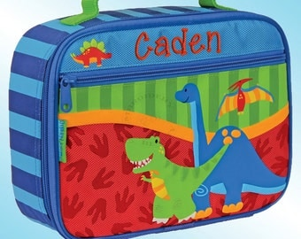 Lunchbox - Personalized and Embroidered - Fully Insulated - DINOSAURS