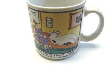 Coffee Cup The Far Side 1988 Gary Larson Mug Cow Rest Of The Herd Insane Humorous Funny