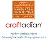 Product Listing Critique - Mini Critiques - Etsy Shop Help - How to improve Etsy shop - Shop Help