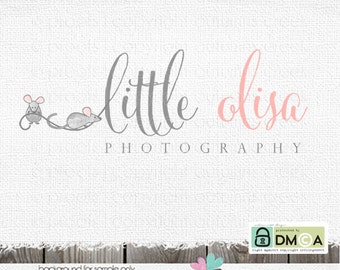 mouse logo mice logo premade logo Photography Logo sewing logo childrens logo baby logo clothing logo daycare logo pet logo logo designs