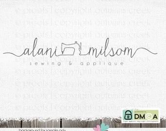 sewing logo premade logo sewing machine logo logo design logos applique logos thread logo logo design photography logo logo sewing