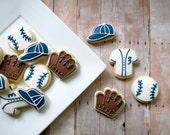 Baseball Cookies - 24 - Two Dozen