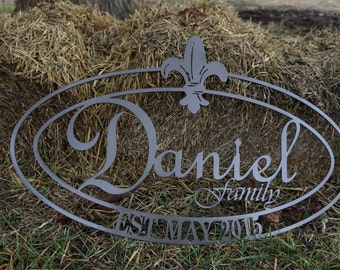 Family Established Sign (Oval)