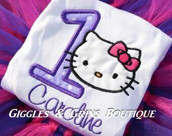 Hello Kitty Birthday Shirt!!-- Super Cute- #1-9 Available
