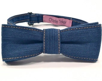 The Dapper Cowboy Denim Bowtie
