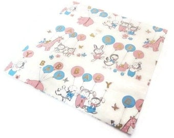 Vintage Wrapping Paper - New Baby Balloons - One Sheet New Baby Gift Wrap - Dennison