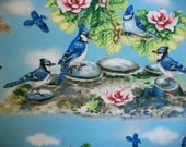 Bird Fabric By The Yard Elizabeth Studio Blue Birds Quilting Sewing Summer Spring Fabric