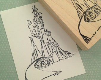 Fairy Tale Castle  Rubber Stamp 3271 W