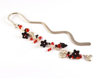 Snow White Beaded Bookmark