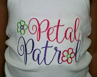 Flower girl shirt,  petal patrol