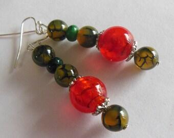 SALE  Love flower earrings fleur d' amour  E039