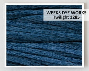 TWILIGHT 1285  : Weeks Dye Works WDW hand-dyed embroidery floss cross stitch thread at thecottageneedle.com
