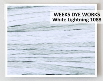 WHITE LIGHTNING 1088  : Weeks Dye Works WDW 6-strand embroidery floss  hand-dyed overdyed thread cross stitch The Cottage Needle