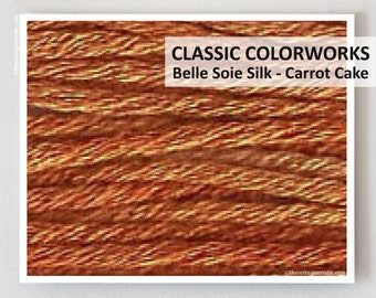 CARROT CAKE Belle Soie  Silk    : Classic Colorworks hand-dyed embroidery floss cross stitch thread at thecottageneedle.com