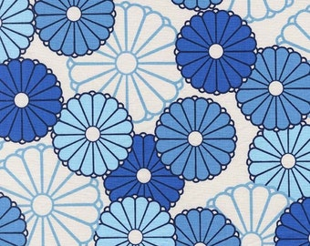 Michael Miller Fabric - Parasols in Azure - Seedling - Thomas Paul - By The Yard