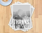 Thank you 5x7 Wedding Photo Card | Instant Download | Photo Wedding | PSD File | Printable