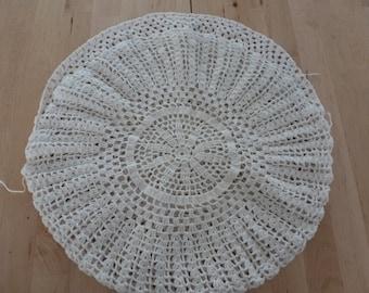 Antique Doily Pillow Cover Round Doily Pillow Cover White Doily