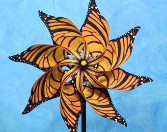 Monarch Pinwheel Spinner Whirligig Windmill