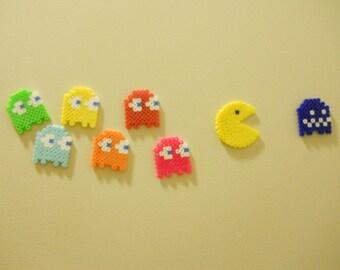 8-bit Pacman magnet set- 8 piece