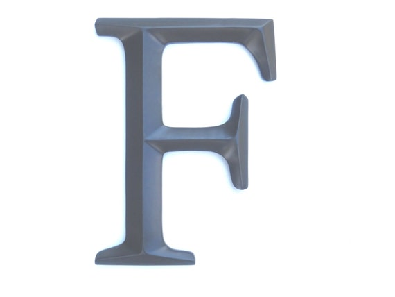 Letter f sign large letter f wall decor gallery by nearanddeer for Letter f decoration