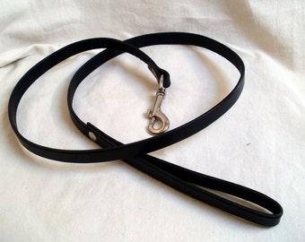 "Leather dog leash, 1/2"" wide, leather dog lead, black, brown or tan, brown leather dog leash, black leather dog leash"