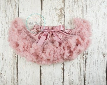 dusty rose pettiskirt, mauve tutu, baby pettiskirt, girls pettiskirt, baby tutu, rose pettiskirt, newborn pettiskirt, petticoat, infant tutu