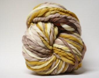 Thick and Thin Merino Handspun Yarn Wool Slub tts Hand dyed Extra Super Bulky Half-Pounder xxlr TP 1509a