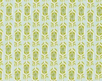 Tokyo Train Ride Fox Shrine in Green, Sarah Watts, Cotton+Steel, RJR Fabrics, 100% Cotton Fabric, 2012-1