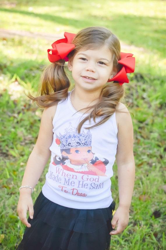 tshirt tank one piece tshirt Vintage inspired childrens tshirt, tank....When God Made Me He Said Ta-Daaa [WGMM001]