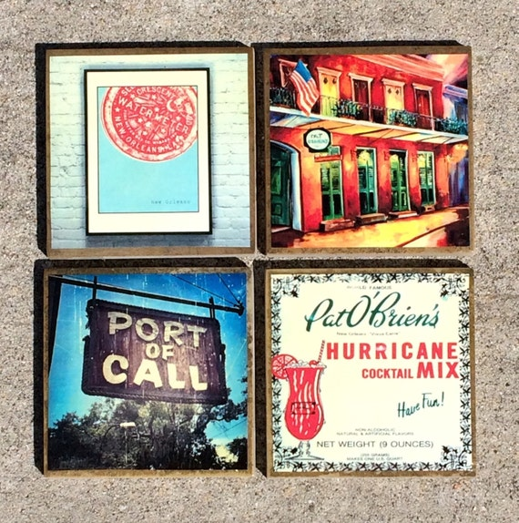 New Orleans Custom Coasters Set Of Four