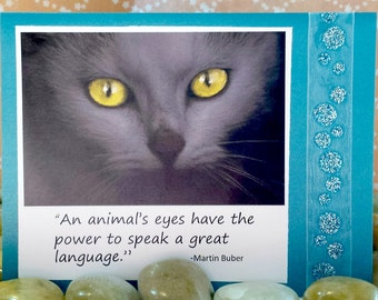An animals eyes have a power to speak a great language  Handmade Greeting Card