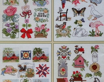 Leisure Arts | MANY MORE MINIS | Jorja Hernandez | Miniatures | One Nighters | (Multiple Designs) Counted Cross Stitch Pattern Chart Booklet