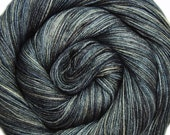 55/45 sw bfl silk yarn STAR TREK into DARKNESS hand dyed fingering weight 3.5oz 435 yards