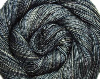 sw merino or bfl silk yarn STAR TREK into DARKNESS hand dyed fingering weight 3.5oz 435 yards