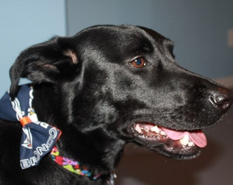 Denver Broncos Dog Bow/Bow Tie Accessory