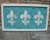 Stained Glass Mosaic Window fleur de leis