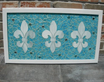 Mosaic Fleur De Leis Country French Style Window