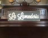 LA LAVANDERIA Italian Country Decor Laundry Room Sign Plaque Wooden Hand Painted You pick Color